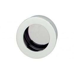 Poignées affleurantes laiton chromé polie 40x10mm Lot de 10