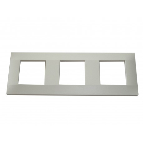 Plaque finition blanc montage vertical 224x80mm3 ou 6 modules Schneider ALB45659