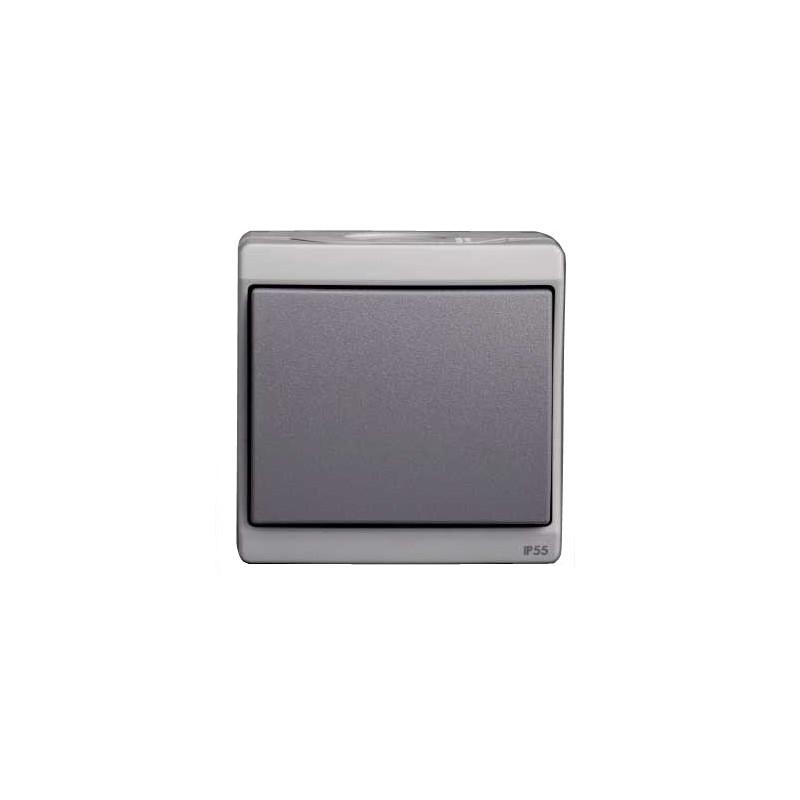 bouton poussoir gris en saillie schneider enn35026 occasoutils. Black Bedroom Furniture Sets. Home Design Ideas