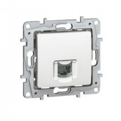 Prise RJ45 simple CAT5 FTP blanche SCHNEIDER ALVAIS ALB81037