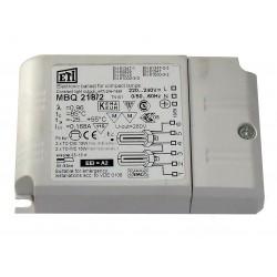 BALLAST ELECTRONIQUE POUR FLUOCOMPACT 2x18w ETI MBQ218/2