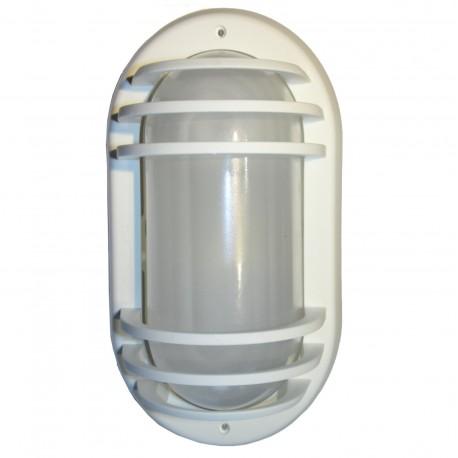 APPLIQUE EXTERIEUR ETANCHE BLANC IP44 220Volts fluocompact