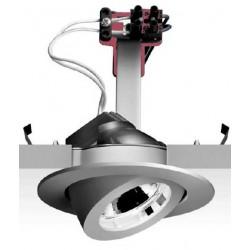 SPOT à encastrer orientable chromé 35w 12v gu4 Iguzzini 8091.0
