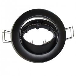 Spot encastrable orientable 12v-50w NOIR Ø75mm INDIGO KO101205