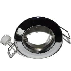 Spot encastre fixe en fonte d'alu chrome Ø 77,5mm INDIGO CE900003