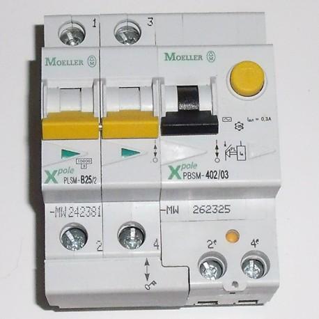 Moeller Disjoncteur 25A + module différentiel 300mA