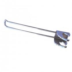 Broche droite doubles fil pour barre (la paire)