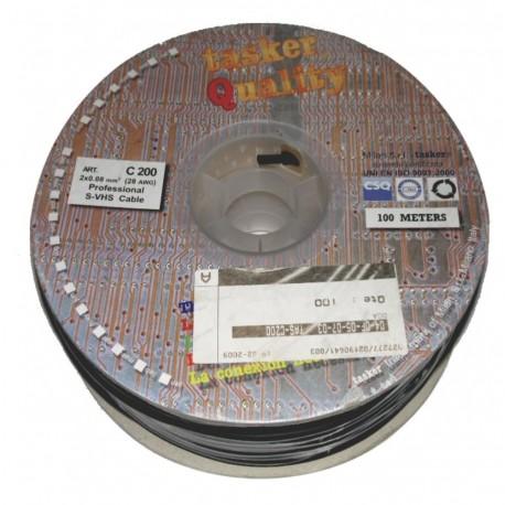 CABLE S-VHS BOBINE DE 100M 2x0.08