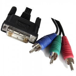 CABLE DVI-I VERS 3 RCA MALES
