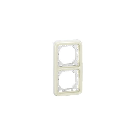 SUPPORT PLAQUE PROGRAMME PLEXO COMPOSABLE BLANC - 2 POSTES VERTICAL