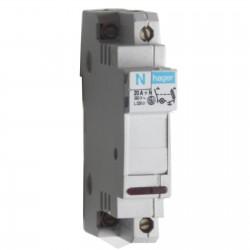 Porte fusible unipolaire 25a hager ref l107 - Voyant armoire electrique ...