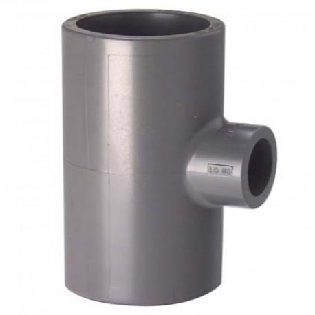 Tés à 90 63mm, réduits 25-32-40-50mm, PVC-U métrique