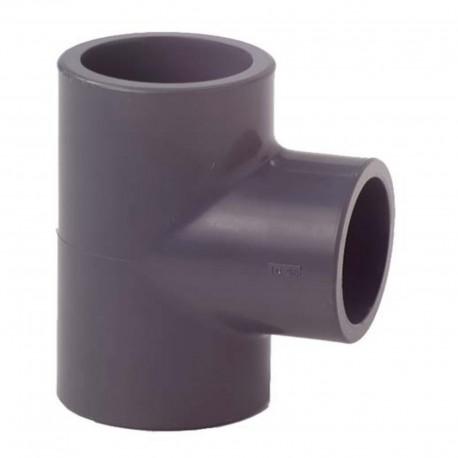 Tés à 90 égaux PVC-U métrique 63mm