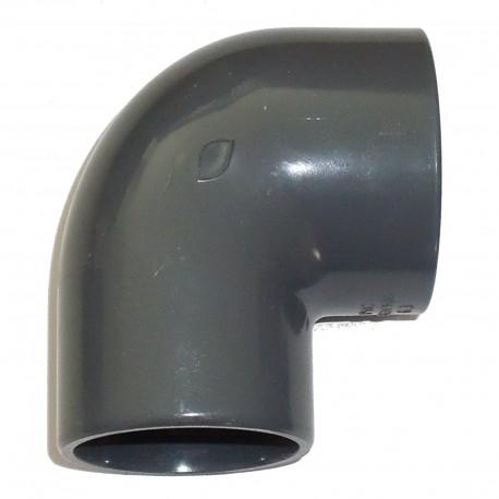 Coudes à 90 PVC-U métrique 63 mm