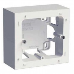 Boîte pour montage en saillie 1 postes Blanc SCHNEIDER ODACE S520762