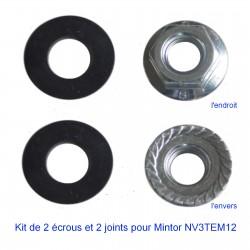 Kit de deux écrous et deux joints pour jauge NV3TEM12