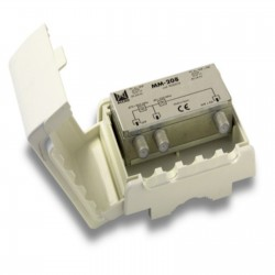 Coupleur 2 entrées UHF-VHF-FM avec PC en UHF Modèle MM208 ALCAD 9020018