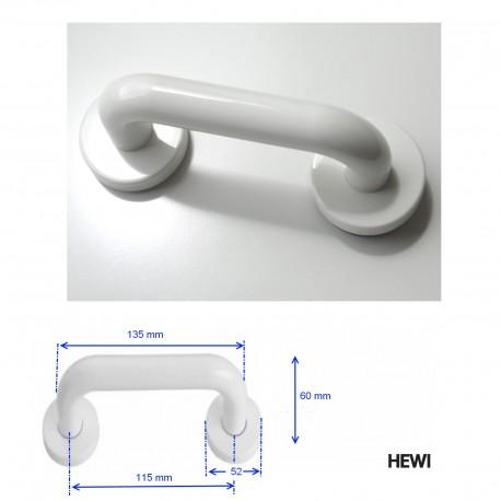Poignée de meuble blanche Ø 20 mm sur rosace 111G.1