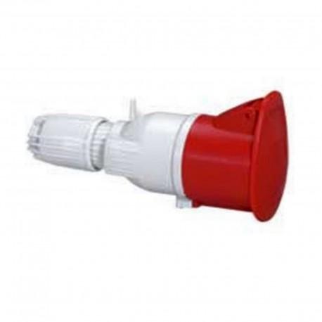 Prise mobile P17 - IP44 - 32 A - 380/415 V~ - 3P+N+T - plastique
