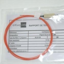 Jarretière Pigtail 62,5/125 Easystrip ST 2M OM1 EKIVALAN COP062SC