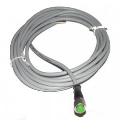 CONNECTEUR FEMELLE M12 AVEC CABLE 5m