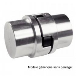 Accouplement réducteur à flector moyeux alu  Ø 19 vers Ø 38