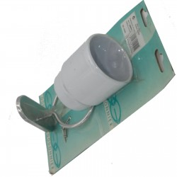Porte brosse à dent mural gobelet en céramique blanche Godonnier 410501