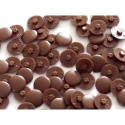 Cache vis marron Ø 12 mm pour vis 6 pans creux Ø 3 mm (lot de 50 pcs)