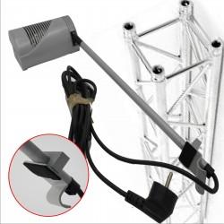 Eclairage pour présentoir avec lampe Halogène accroche sur rail