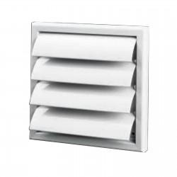 Grille ventilation PVC sortie d'air à volets mobiles Ø125