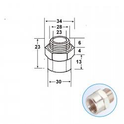 réduction et adaptateur femelle NPT / mâle cylindrique