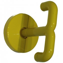 Porte manteaux double tournant KH75 Jaune (lot 2 pcs)