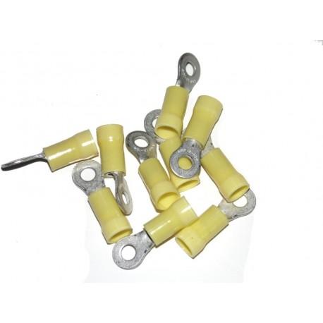 Cosse A Oeil POUR CABLE 6 mm TROU Ø 4 mm - Jaune