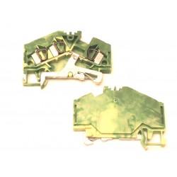 Borne de passage vert/jaune 3 x 4mm max Wago