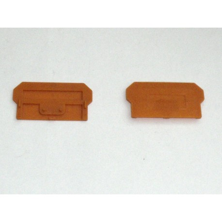 PLAQUES DE TERMINAISON ORANGE WAGO 281327 (lot de 80 pcs)