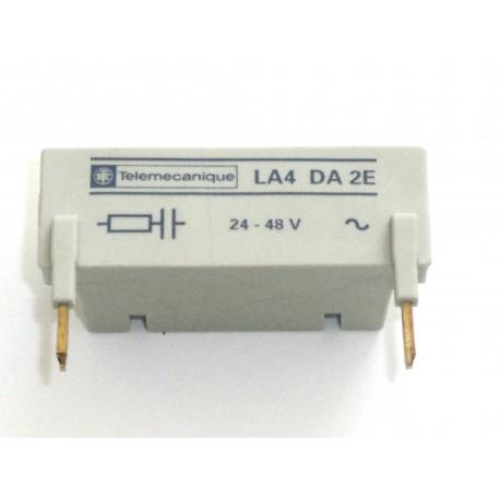 Module d'antiparasitage 24 a 48 V AC TELEMECANIQUE LA4 DA2E
